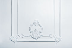 Beautiful white architectural relief pattern Royalty Free Stock Images