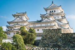 Beautiful White Architecture of the famous Himeji Castle in Japan. Beautiful White Architecture of the famous Himeji Castle, one of the most visited medieval royalty free stock photography