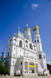 The beautiful white architecture of Ivan the Great bell tower, Moscow Kremlin, Russia Stock Photography