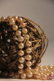 Beautiful white ball and beads Stock Images