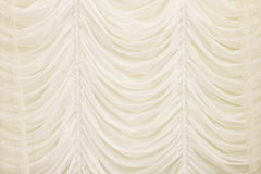 Beautiful white beige curtain Royalty Free Stock Photos