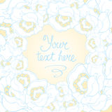 Beautiful white and blue flower background vector  Stock Photos