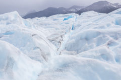 Beautiful white and blue glacier of Perito Moreno in Argentina Royalty Free Stock Images