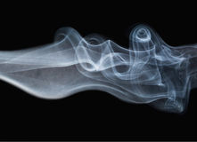 Beautiful white blue smoke Royalty Free Stock Image
