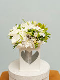 Beautiful white bouquet for the bride Royalty Free Stock Photo