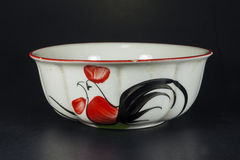 Beautiful white bowl created Stock Photography