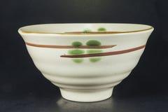 Beautiful white bowl created Stock Image