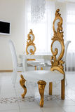 Beautiful white chairs Royalty Free Stock Photo