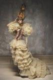 Beautiful white chess queen woman Stock Photos