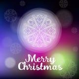 Beautiful white Christmas snowflake Royalty Free Stock Photo