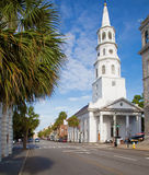 Beautiful white church in Charleston, South Carolina Royalty Free Stock Photo