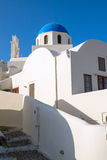 Beautiful white church in Oia Stock Photos