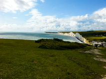 Beautiful white cliffs of Dover landscape UK Stock Images
