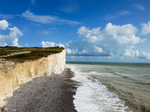 Beautiful white cliffs of Dover landscape UK Royalty Free Stock Photography