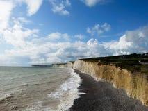 Beautiful white cliffs of Dover landscape UK Stock Photo