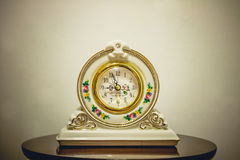 Beautiful white clock Stock Images