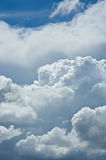 Beautiful white cloud cloudy nimbus blue sky nature landscape ba Royalty Free Stock Photo