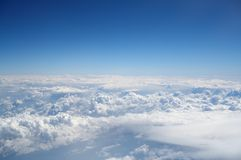 Beautiful white clouds. On blue sky background Royalty Free Stock Images
