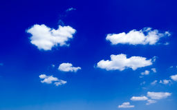 The beautiful white clouds. The beautiful white clouds on background blue sky Royalty Free Stock Photo