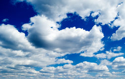 The beautiful white clouds. Stock Photo
