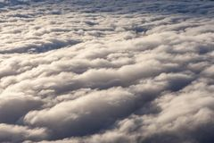 Beautiful white clouds. Stock Photos