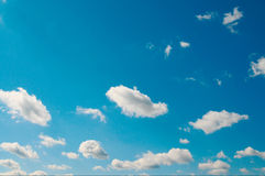 Beautiful white clouds and blue sky. Royalty Free Stock Photos