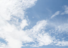 Beautiful white clouds and blue sky background Royalty Free Stock Photo