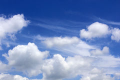 Beautiful white clouds with blue sky background Royalty Free Stock Images