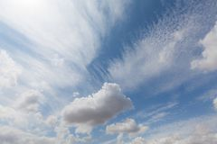 Beautiful white clouds and blue sky 0108 royalty free stock image
