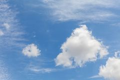 Beautiful white clouds and blue sky 0111 royalty free stock photography