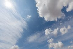Beautiful white clouds and blue sky 86 stock photography