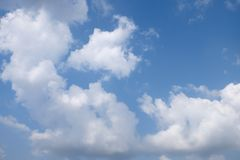 Beautiful white clouds with blue sky background, tiny clouds.  royalty free stock photos