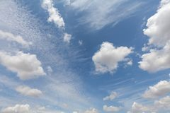 Beautiful white clouds and blue sky 0107 stock photos