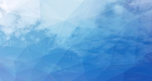 Beautiful white clouds in the blue sky. Cloudscape. Low poly background of light  blue sky clouds
