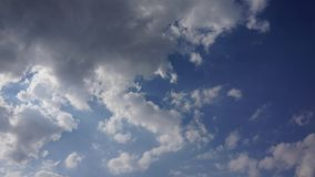 Beautiful white clouds, blue sky, time lapse video. stock video footage