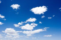 Beautiful white clouds over blue sky Royalty Free Stock Photography