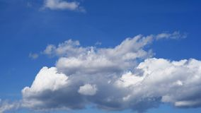 Beautiful white clouds and sky stock footage