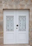Beautiful white door Stock Photo