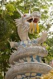 Beautiful white dragon statue at Wat Mai Kham Wan temple, Phichi. T, Thailand Royalty Free Stock Photography