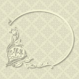 Beautiful white floral frame Stock Images