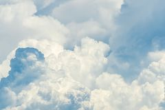 Beautiful white fluffy cloud abstract background. Cloudscape.  Fluffy white clouds on sunny day. Nature weather. Soft like cotton. Beautiful white fluffy cloud stock photography