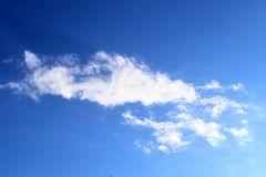 Beautiful white fluffy cloud formations on a blue sky taken in spring. Beautiful white fluffy cloud formations on a blue sky taken during spring royalty free stock photos