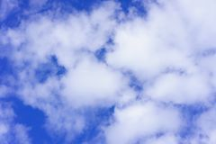 Beautiful white fluffy clouds in the blue sky day, cloud day. It best for background. Abstract or blur royalty free stock image