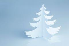 Beautiful white handmade Christmas tree - horizontal Royalty Free Stock Images