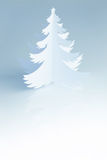 Beautiful white handmade Christmas Tree - vertical Royalty Free Stock Images