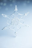 Beautiful white handmade snowflake Royalty Free Stock Images