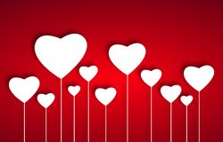 Beautiful white hearts Royalty Free Stock Images