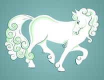 Beautiful White Horse Royalty Free Stock Image