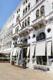 Beautiful white hotel  building  in Venice ,Italy Royalty Free Stock Photography