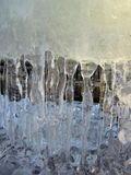 Beautiful white ice icicles in winter Royalty Free Stock Photos